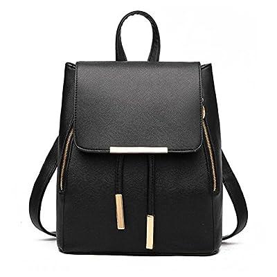 Women Backpack Purse PU Washed Leather Large Capacity Ladies Rucksack Shoulder Bag