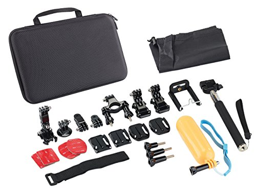 Somikon Action Cam: 20in1 accessoireset voor Action-Cam DV-4017.WiFi, DV-850.WiFi en GoPro® (GoPro Accessoires Kits)