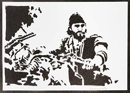 Days Gone Poster Deacon St. John Plakat Handmade Graffiti Street Art - Artwork