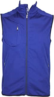 Golf Microfleece Full Zip Golf Gilet Vest Blue (XXL)