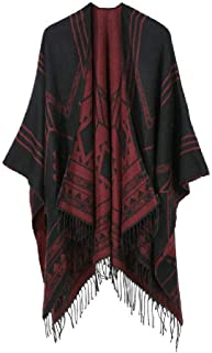 New Women Winter Fashion Ponchos And Capes Hooded Thick Warm Shawls Scarves Outwear