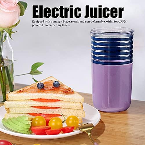 Okuyonic Herramienta de Cocina, licuadora eléctrica portátil, licuadora eléctrica, Material de Calidad alimentaria, Cocina para el hogar(Blue)