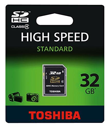 Toshiba SD-K32GJ(BL5 Class 4 SDHC 32GB Speicherkarte schwarz