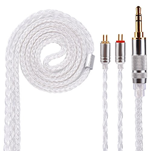 New Yinyoo 16 Core Silver Plated Detachable IEM Earbuds Earphones Cable for AS10 ZS10 ZS7 ZSR ES4 ZST CCA C10 C16 C04 TRN V80 V90 BA5 ZS3 ZS4 ZS5 ZS6 AS06 ED16 ZS3E Yinyoo V2 Yinyoo ASH(2pin 3.5mm)