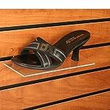 Clear Acrylic Slatwall Shoe Shelf, 4