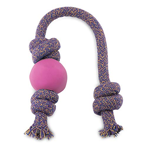 BecoThings Spielball mit Seil, 30 cm, rosa