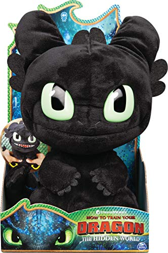 DreamWorks Dragons, Squeeze and Roar Toothless 11-Inch Plush with Sounds, for Kids Aged 4 and Up