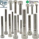 Edelstahl Zylinder-Schraube rostfrei V2A M5-mm stark 20-mm Schrauben-Länge 50 Stück 18-mm...