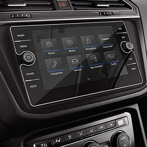 MLING Vetro Temperato Protezione Schermo Compatibile per Tiguan 2018 2019 2020 GPS Navigatore Display Pellicola Protettiva 9H 8 Pollice Durezza Antigraffio
