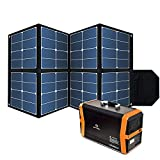 Foldable 100W Solar Panel, Waterproof Portable Power Solar Panel Charger with1 DC...