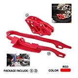 JFG RACING Kit de protector de cadena para Honda CR125R CR250R CRF450X 05-07, CRF250R CRF450R 05-06, CRF250X Off-Road Dirt Bike