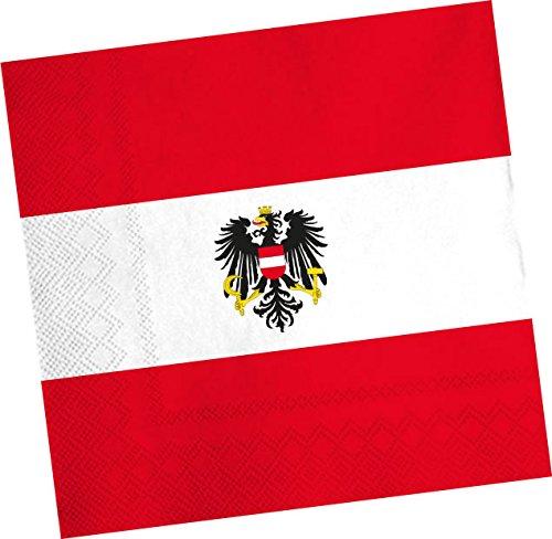 DH-Konzept 20 Servietten * ÖSTERREICH * für Party und Geburtstag Austria Alpen Party Set Napkins Papierservietten