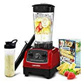 CRANDDI Countertop Blender, with 1500W Base, Professional High-Speed Smoothie Blender with 70oz...