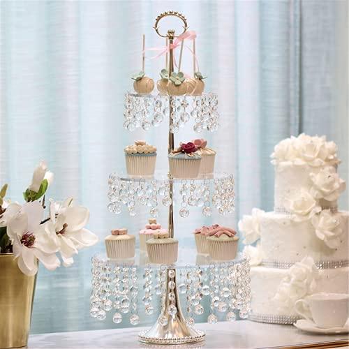 Expositor para tartas transparente con bandeja de cristal para plato de postre...