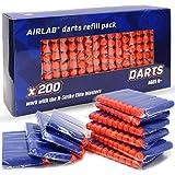 Airlab 200pcs Darts Refill Foam Bullets Ammo for Nerf N-Strike Elite Blasters Gun, Blue