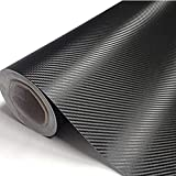 Pellicola Adesiva Fibra di Carbonio, Pellicola vinilica adesiva 3D in fibra di carbonio per auto AntiGraffio Pellicola Protettiva Wrapping Sticker per Auto Moto