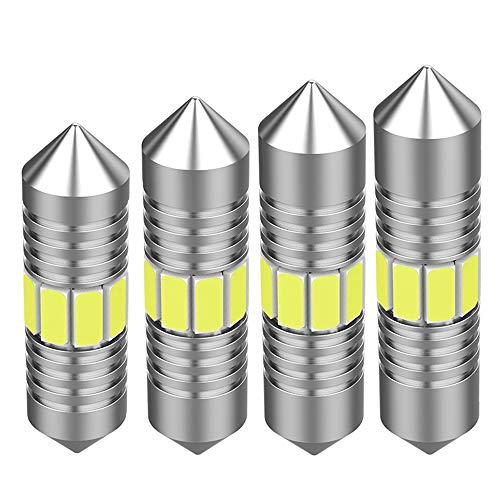 Z&LEI 4Pcs 31Mm C5W LED CANBUS Blanco Festoon Bulbos con 4014-12SMD para La Cúpula De Cúpula Tronco Cortesía Lámparas De La Placa De La Cortesía 400Lm,31mm