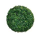 Spetebo Buchsbaumkugel grün - Ø 35 cm - Garten Deko Buchsbaum Kugel künstlich Buchskugel