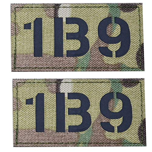 2-Pack Infrared IR Call Sign Reflective Patch,1B9...