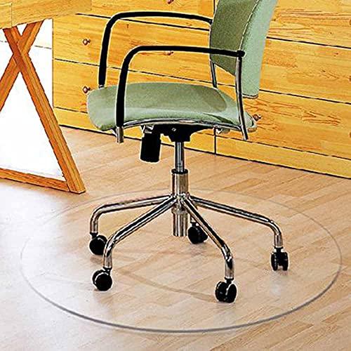 WHOJA Alfombrilla de silla Estera de la silla del escritorio de oficina para piso de madera dura PVC mate, Protector de suelo duro Fuerza de alto impacto 80/90 / 100 / 120cm Alfombrilla Tr(Size:120cm)