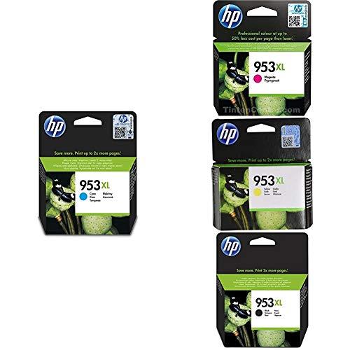 HP 953XL F6U16AE Cartuccia per Stampanti a Getto di Inchiostro, Compatibile con OfficeJet Pro 8710, 8715,...