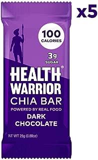 Health Warrior Chia Bars, Dark Chocolate, 5 Count