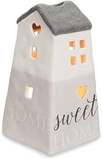 Pavilion Gift Company 86203 Love Lives Sweet Home Porcelain House Candle Holder