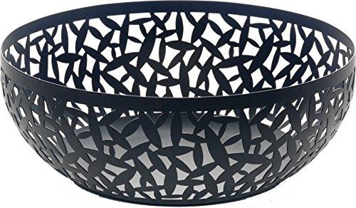 Alessi Cactus MSA04/29 B Design Obstschale, durchbrochen, aus Stahl, epoxidharzlackiert, schwarz