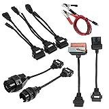 Wooya 8 Unids Set Completo Coche Cables Adaptador Obd2 II Cdp para Autocom Cdp Pro Diagnóstico