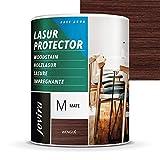 LASUR PROTECTOR AL AGUA MATE Protege, decora y embellece todo tipo de madera. (750 ML, WENGUÉ)
