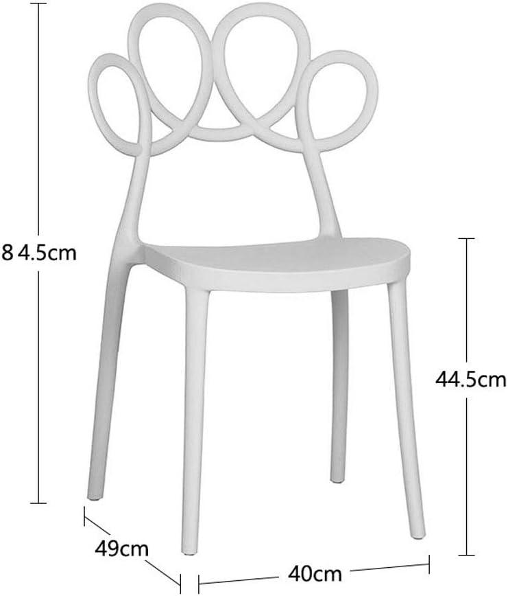 XXT-Chaise de Salle à Manger Moderne Chaise Minimaliste Restaurant Chaise Plastique créative Chaise de café à la Maison Durable (Color : E) C