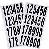 Outus 10 Sheets Numbers Stickers Mailbox Numbers Self Adhesive Vinyl Numbers for Residence and Mailbox Signs (3 Inch, Black on White)