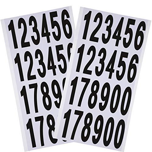 10 Feuilles Autocollants Numéros Numéros de Boîte aux Lettres Nombres Auto-Adhésif en Vinyle pour Panneaux de Résidence et de Boîte aux Lettres (3 Pouces)