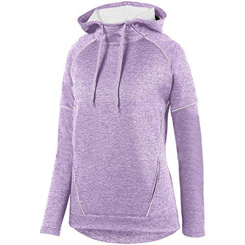 Augusta Sportswear Womens Zoe Tonal Heather Hoodie XL Light Lavender/White