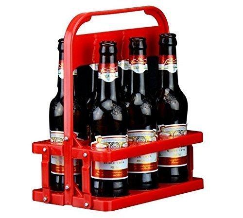 UChic Lot de 6 paniers pliables en plastique pour bouteilles de bière - Pour un usage quotidien et une fête - Diamètre : 6,3 cm - 330 ml