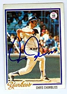Chris Chambliss autographed baseball card (New York Yankees) 1978 Topps #485 JC - Autographed Baseball Cards
