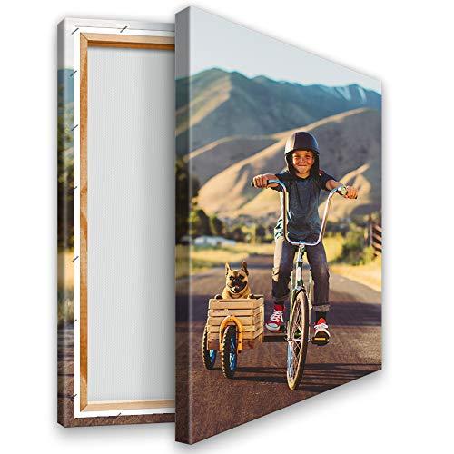 Kunstlab Dein eigenes Foto auf Leinwand 20x30 cm Hochformat. Echtholz Keilrahmen. Personalisierbar. Fotogeschenk selbst gestalten. Sofort hochladen.