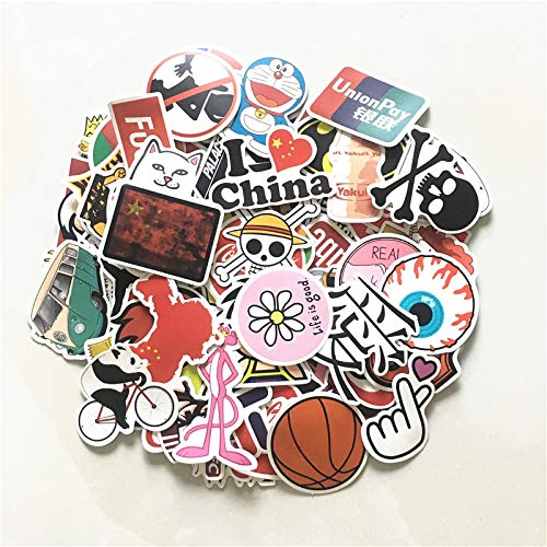TUHAO Fashion Brand Tide Card Graffiti Stickers Guitar Laptop Skateboard Motorcycle Luggage Sticker Bedroom Wall Decals Decoration 100Pcs