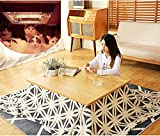 Bailiran Kotatsu Table with Heater and Blanket Kotatsu Table, Japanese Stove Heated Table, Solid Wood Tatami Heater, Square Futon Table, 4 PCS Table/Comforter/Rug/Heater,Black Walnut Table