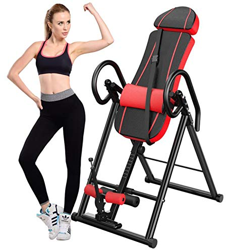 Review LFFCCHigh Endurance Inversion Table,Stretcher Machine for Pain Relief Therapy Full 180 Degree...