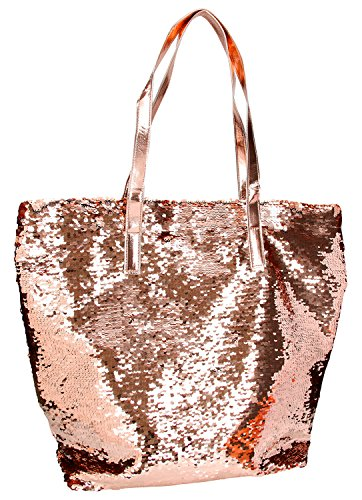 Depesche 6379 - Handtasche Top Model mit Pailletten, Gold