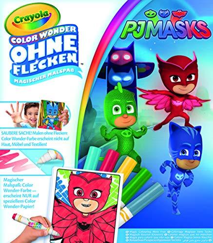 Crayola - Kit Color Wonder PJ Masks - Coloriage magique - 256299.006