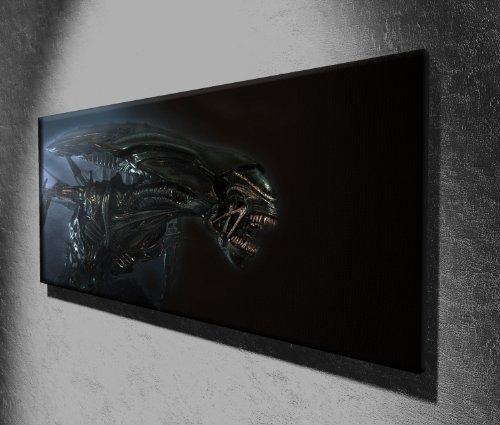Kunstdruck auf Leinwand, Motiv: Alien on the Attack Horror-Film, 127 x 50,8 cm, fertig zum Aufhängen