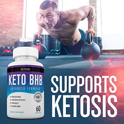 Nutriana Keto Diet Pills - Ketogenic Keto Pills for Women and Men - Keto Supplement BHB Salts - Keto Fast Exogenous Ketones - Ketosis Keto BHB Pills 60 Capsules 30 Day Supply 9