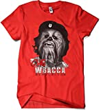Camisetas La Colmena 207-Parodia - Chewbacca Che (XXXL, Rojo)