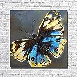 tzxdbh 100% fait Main de Haute qualité Beau Papillon peinture à l'huile accrocher l'image pour la décoration intérieure Nice Sans Cadre