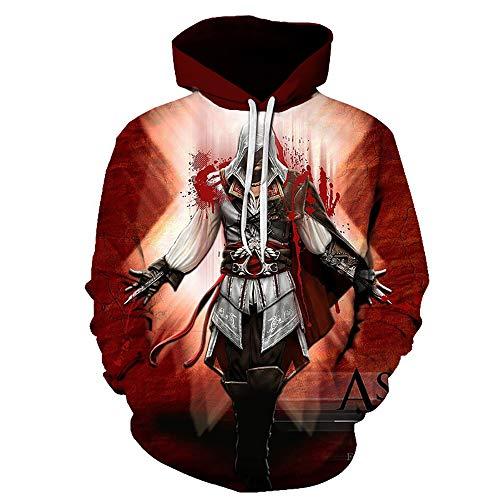 LJ123 Assassin's Creed Hoodie 3D Print Pull Sweat Street Style Hoodie Cosplay Costume