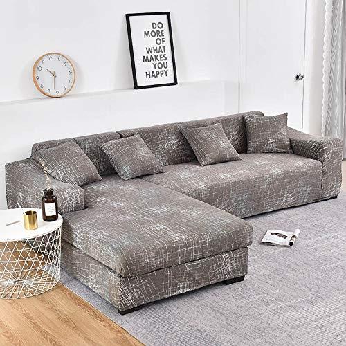 WXQY Funda de sofá elástica con Estampado Floral para Sala de Estar Funda Protectora para Silla Funda Protectora para Sala de Estar Funda de sofá a Prueba de Polvo Completa A51 4 plazas