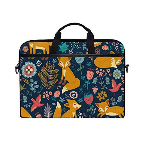 XMCL Forest Fox Pattern Laptop Case Shoulder Bag Computer Notebook Briefcase Messenger Bag with Adjustable Shoulder Strap Fits 14-14.5 inch