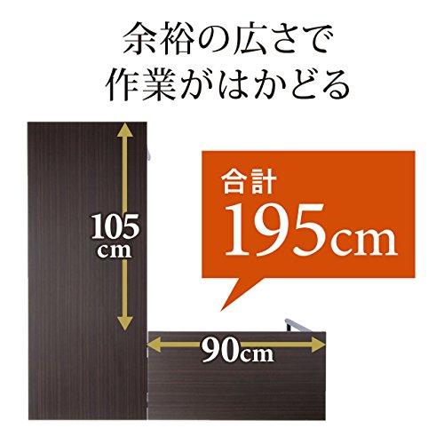 SANWASUPPLY(サンワサプライ)『L字型パソコンデスク(100-DESKH011)』